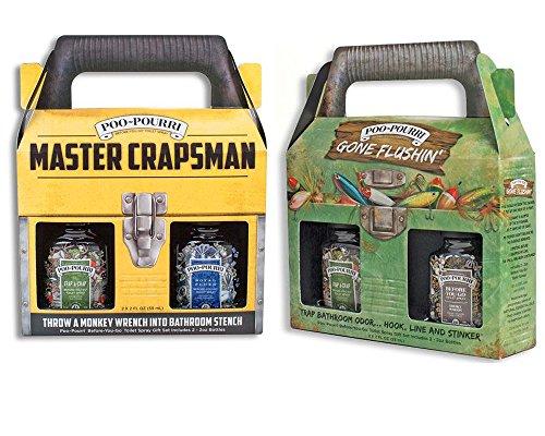 10:21 Gifts, Keepsakes, and Bundles Poo-Pourri Mens Gift Set Bundle - Master Crapsman Tool Box Gone Flushin Tackle Box - Includes (4) 2 oz Bottles ()