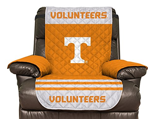 NCAA Tennessee Volunteers Recliner Reversible Furniture Protector with Elastic Straps, (Tennessee Vols Drape)