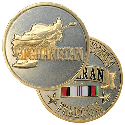 (Medals of America Afghanistan Veteran Challenge Coin Gold)