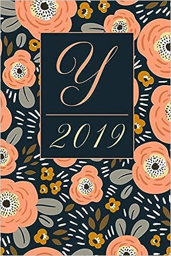 February Monogram Calendar 2019 Amazon.com: Y: Letter Y 2019 Yearly Planner Calendar, Ditzy