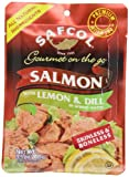 SAFCOL Gourmet on the Go Salmon with Lemon and Dill in Spring Water, 3.5-Ounce Pouches (Pack of 12)