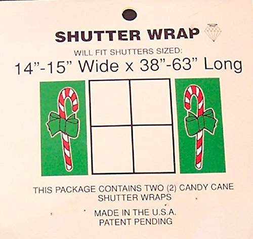 Shutter Wrap (Christmas Candy Cane Home Shutter Wrap Decoration)