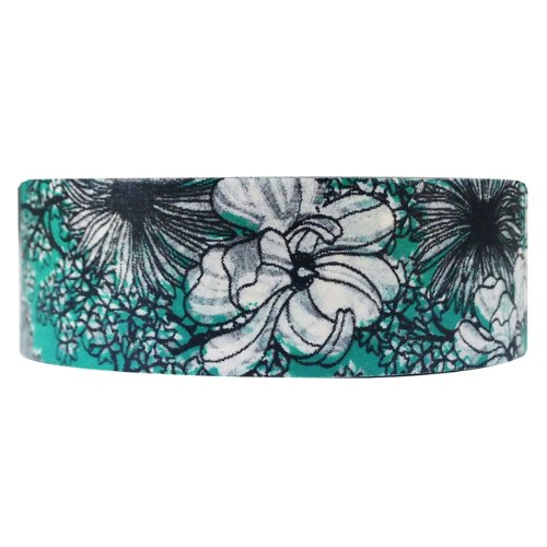 Wrapables Floral Nature Masking Emerald