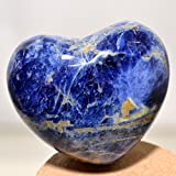 45mm Blue Sodalite Crystal Puffy Heart Quartz Stone Mineral Polished Gemstone Specimen Heart