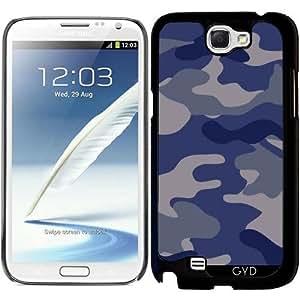 Funda para Samsung Galaxy Note 2 (GT-N7100) - Azul Camouflagle by wamdesign