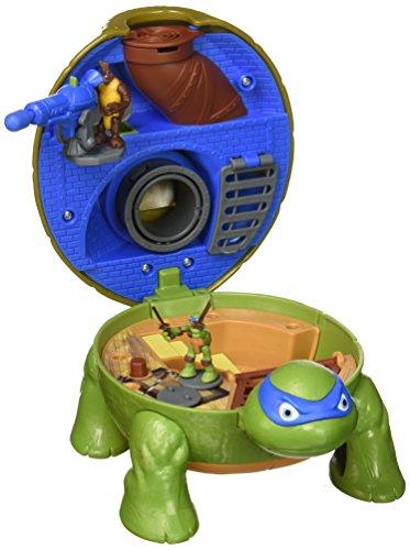 [Teenage Mutant Ninja Micro Leonardo's Dojo Pet Turtle To Playset] (Ninja Turtle Blue)