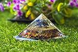 Crocon Mix Chakra Gemstone Orgone Pyramid with Lapiz Lazuli Merkaba Energy Generator for Aura Cleansing, Reiki Healing, Chakra Balancing Size- 2.5-3 Inch