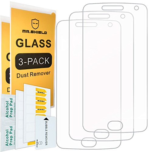 [3-PACK]-Mr Shield For Motorola Moto G5 Plus/Moto G Plus (5th Generation) [Tempered Glass] Screen Protector [Japan Glass With 9H Hardness] with Lifetime Replacement Warranty