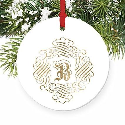 rustic christmas decorations for tree b monogram family name b initial christmas christmas hanging ornaments for