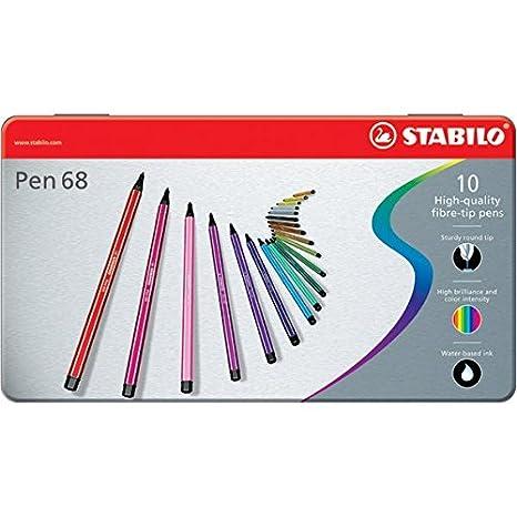 Pennarelli STABILO Pen 68 Pennarello colore Verde Confezione da 10