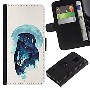 Stuss Case / Funda Carcasa PU de Cuero - Noctámbulo - Samsung Galaxy S5 V SM-G900