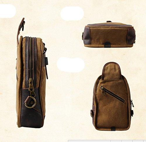 Leisure Shoulder Canvas Package Sports Outdoor Retro Bag Laidaye Business 2 Chest Zqfwx0EA0