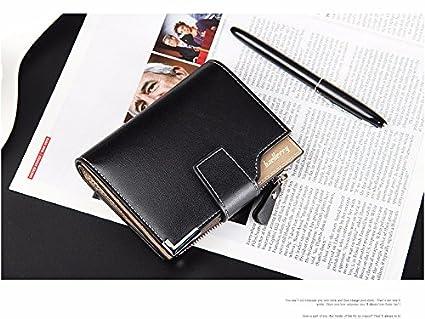 36fe6cbc5d3f Amazon.com : Money coming shop Wallet men genuine leather men wallets purse  short male clutch leather wallet mens Baellerry brand money bag quality ...