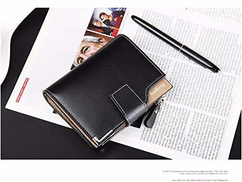 Money coming shop Wallet men genuine leather men wallets purse short male clutch leather wallet mens Baellerry brand money bag quality - Stock Armani