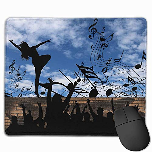 """Mouse Pad Non Slip Rubber Microphone Print Gaming 11.8"""" X9.8"""