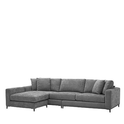 Amazon.com: Gray Velvet Lounge Sofa | EICHHOLTZ FERAUD | Gray ...