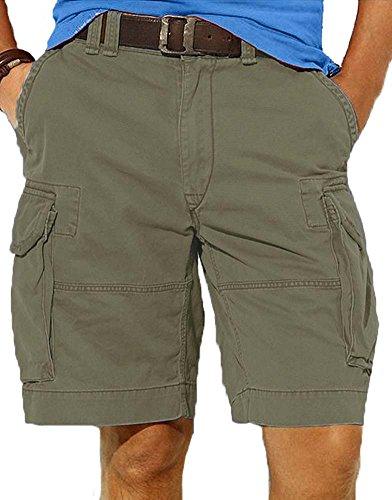 Ralph Lauren Men's Gellar Fatigue Cargo Shorts (30, Olive) (Green Ralph Khaki Lauren)