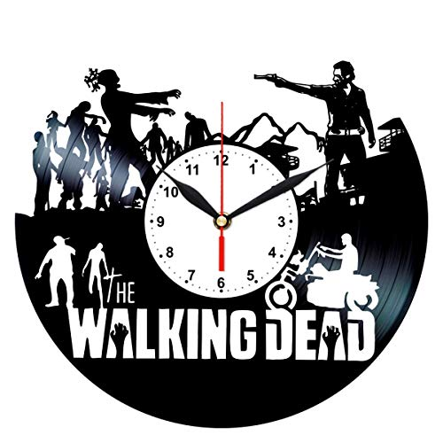 The Walking Dead Clock - Vinyl Record Wall Decor - Best Birthday Gifts for -
