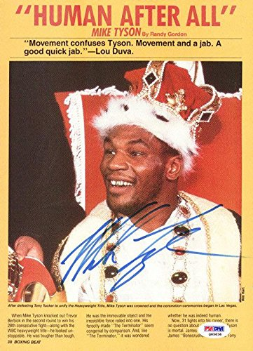 Mike Tyson Autographed Signed Magazine Page Photo Vintage Q65636 PSA/DNA Certified Autographed Boxing Magazines