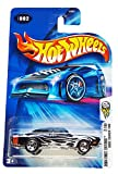 dodge 1969 - Hot Wheels 2004-002 First Editions 1969 Dodge Charger BLACK w/Flames 1:64 Scale