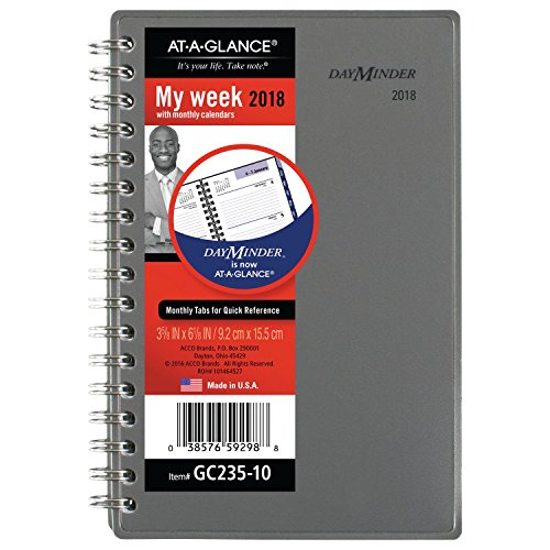 Wirebound Monthly Planner (AT-A-GLANCE DayMinder Weekly / Monthly Planner, January 2018 - December 2018, 3-5/8