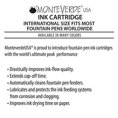 Monteverde Internatinal Size Cartridge to Fit Fountain Pens, Red, 6 per Pack (G302RD) Photo #6