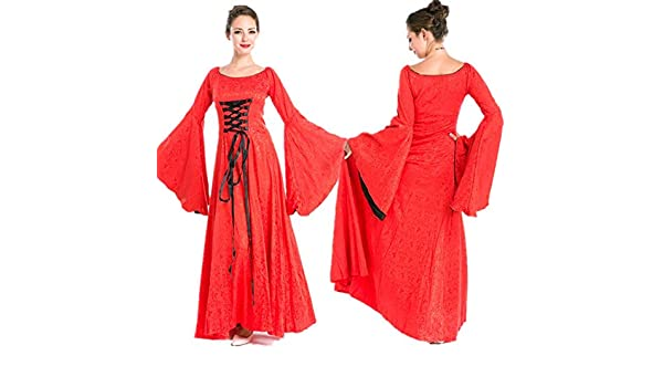 Disfraz De Halloween Mujer Corte Aristocrática Reina Falda Larga ...