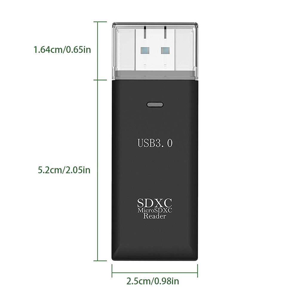 BESTLLE - Lector de Tarjetas Micro SD TF 2 en 1 para SDHC ...