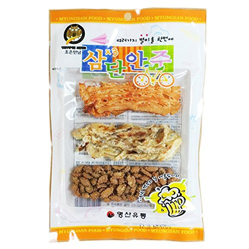 Korean Dried Squid & Nuts Prepared Beer Snack Assortment Pack