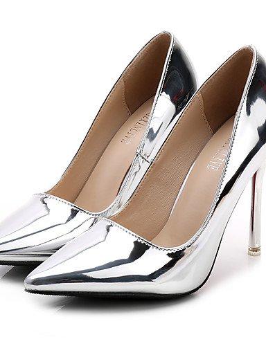 GGX/Damen Schuhe Fall Heels/spitz Zehen/geschlossen Zehen Clogs & Pantoletten Kleid Stiletto Ferse andere Silber/Gold golden-us7.5 / eu38 / uk5.5 / cn38