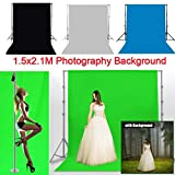 Nacome Studio Background Screen Cloth for Studio Photography Video Shooting and Television (White)