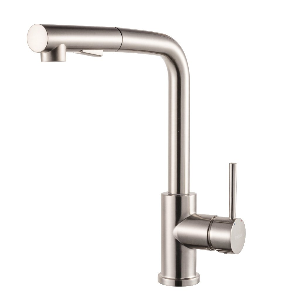 Lordear Bar Sink Faucet Modern Style Stainless Steel 2 Water