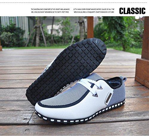 para de casual Mocasines SPEEDEVE cuero primavera hombres blanco verano Zapatos la nYqB6fwBZx