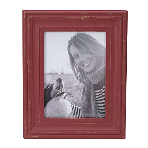 Foreside Home & Garden FFRD06235 5X7 Dalton Photo Frame - Frame Red Picture