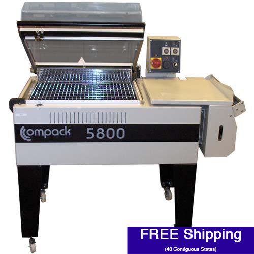 (Shrink Wrap Machine - Compack 5800 L-Bar System w/ Integrated Heat Tunnel (18