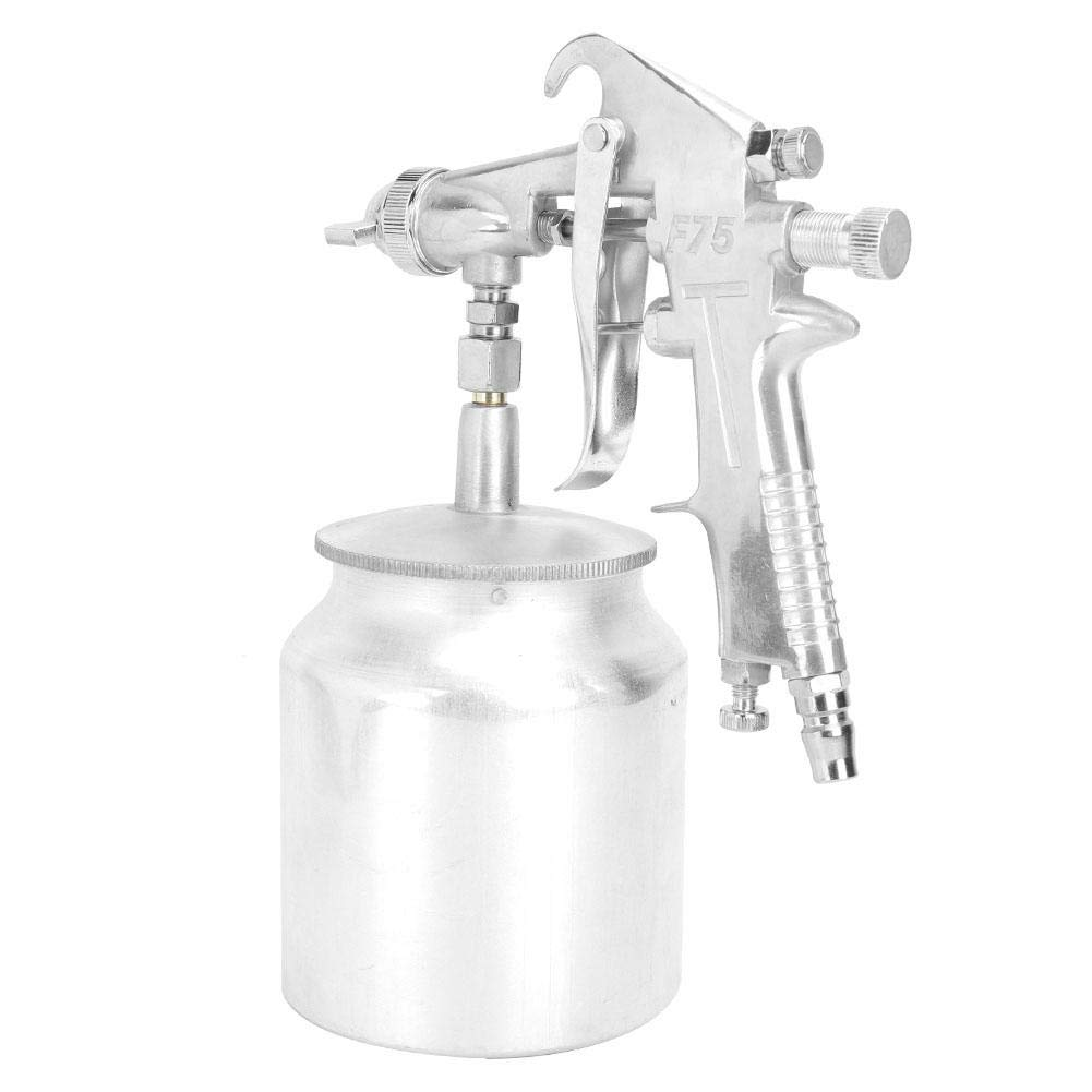 Pistola de pulverización con aerógrafo de 750 ml, pistola de pulverización pintura de uso general, herramienta de aerógrafo de pintura con aire de alimentación, para mapa de pulverización ropa
