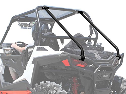 SuperATV Heavy Duty Rear Roll Cage Support for Polaris RZR 900 Trail / 900 XC / 900 S - Wrinkle ()