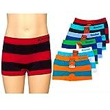 12 Knocker Boys Boxer Shorts Seamless Striped Spandex Kids Soft Underwear New S