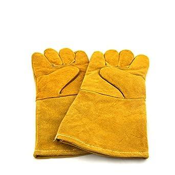 Guantes de soldadura con protección de seguridad para guantes de soldadura, guantes largos de soldadura de ...