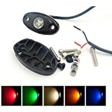 C&L Pack of 6 Auto Safety LED Rock Light For ATV SUV Offroad Truck Boat Underbody Glow Trail Rig Lamp Waterproof IP67