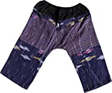 Product review for Raan Pah Muang RaanPahMuang Textured Thick Chomtong Cotton Childrens Baggy Elastic Waist Pants