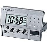 Casio PQ10D-8 LED Digital Travel Clock, Silver