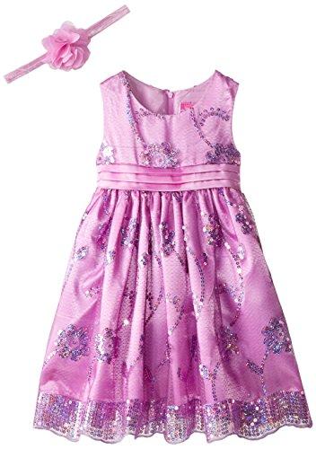 Disney Little Girls Princess Rapunzel Dress with Matching Tiara, Purple, 5