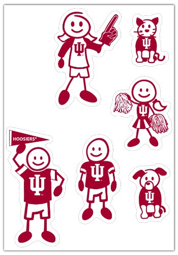 Siskiyou NCAA Indiana Hoosiers Small Family Decal Set
