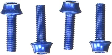 4 pcs SpeedPark AL-6061 M5x20mm Bike Bicycle Water Bottle Cage Screws Blue
