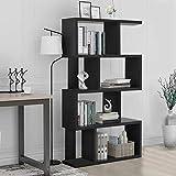 S Shaped Bookcase Z-Shelf Style Bookcase Asymmetrical Snaking Bookcase  Storage Display Modern Industrial  Bookshelf