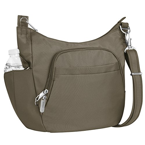 Travelon Anti-theft Classic Crossbody Bucket Bag, Nutmeg (Nutmeg 2 Light)