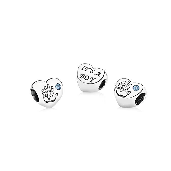 2852734a5 Pandora Women's 925 Sterling Silver Baby Boy Charm Bead: Pandora: Amazon.co. uk: Jewellery