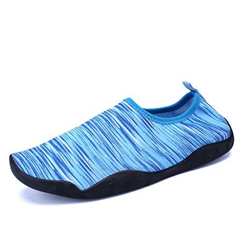 buceo secado de calzado piel luz de de de sarga snorkeling Azul Lucdespo seguridad al libre pegada aire de playa Piscina zapatos calzado natación antideslizante rápido Iqv6wHR