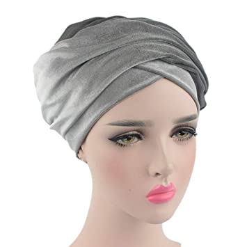 Women Velvet Turban  Wrapped Head Scarf all colours superb quality